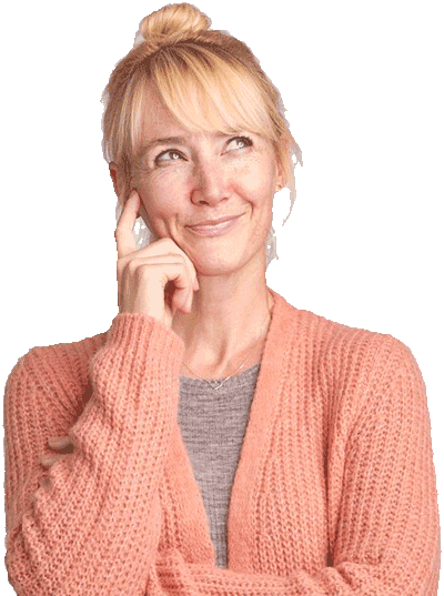 Rolle der Netzschleimhaut Frau fragender Blick